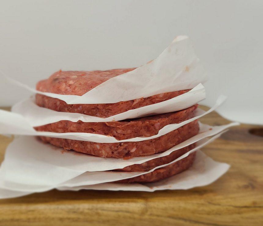 chopped beef burgers